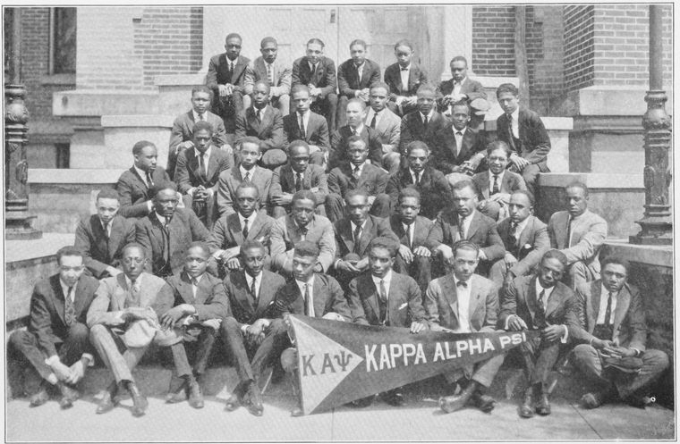 Black and White Image of group of African American men