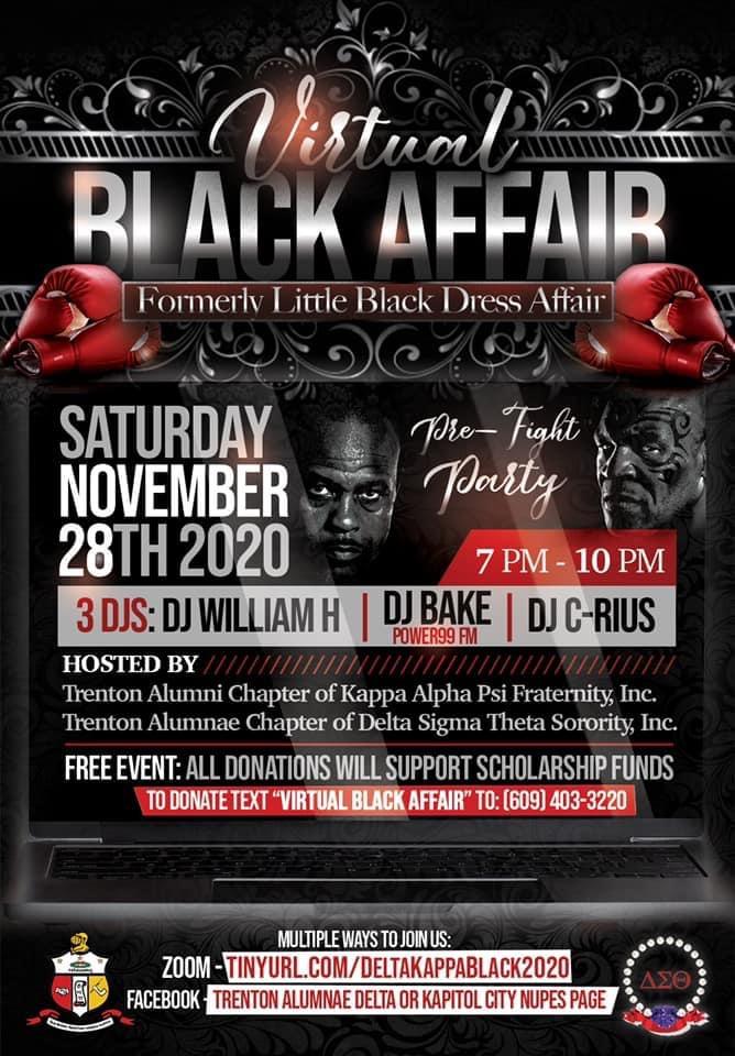 Image of Virtual Black Affair Fundraiser Flier