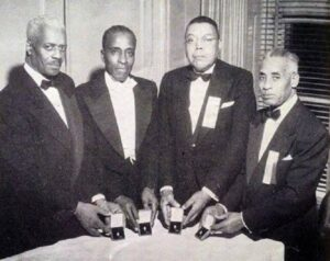Photo of Four of the Ten Founders of Kappa Alpha Psi Fraternity, Inc.