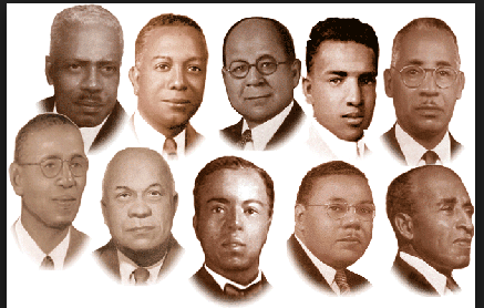Photo of the Ten Founders of Kappa Alpha Psi Fraternity, Inc.